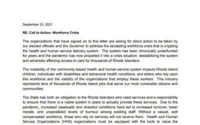 Human Services Workforce Crisis needs to be addressed by the State